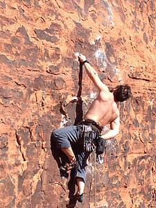 rock, climb, man, mountain, sport, extreme