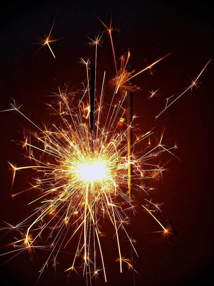 black sparklers
