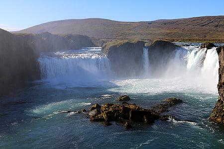 top view of waterfalls