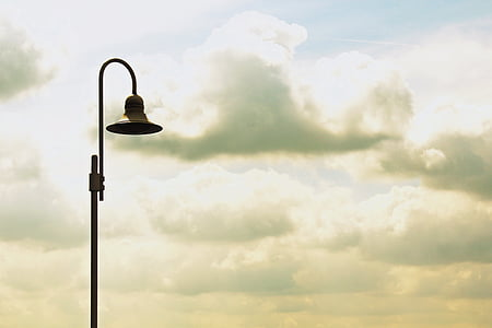 silhouette of lamppost