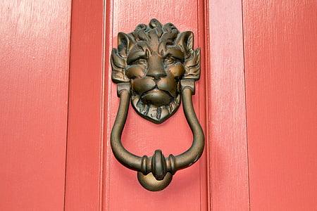 brown steel door handle