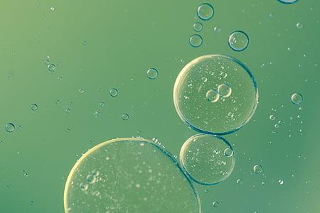 closeup photo of water bubbles