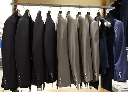 photo of assorted-color suit jackets