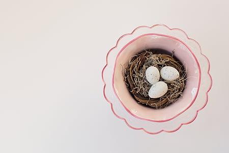 three white eggs