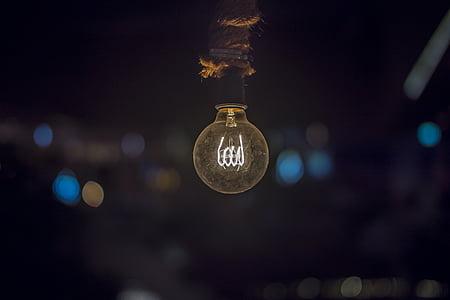 lightbulb in tilt-shift photography