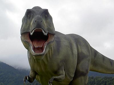 green artificial T-rex