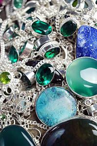 green gemstone jewelry lot