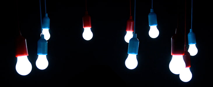 blue-and-red bulbs