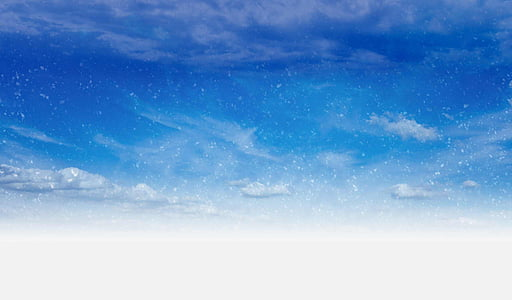 blue and white cloud painting