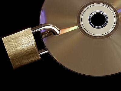 disc with padlock