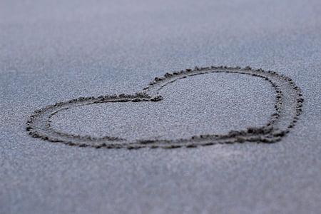 black heart sand photograph
