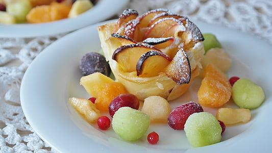 dessert on white ceramic plate