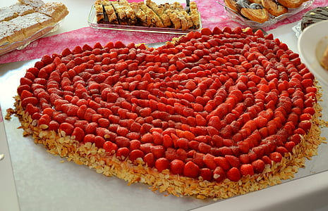 heart-shaped cooked food