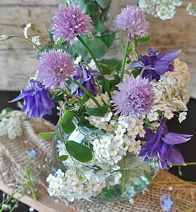 white-and-purple flowers