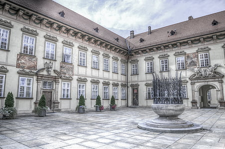 architectural photography of mansion