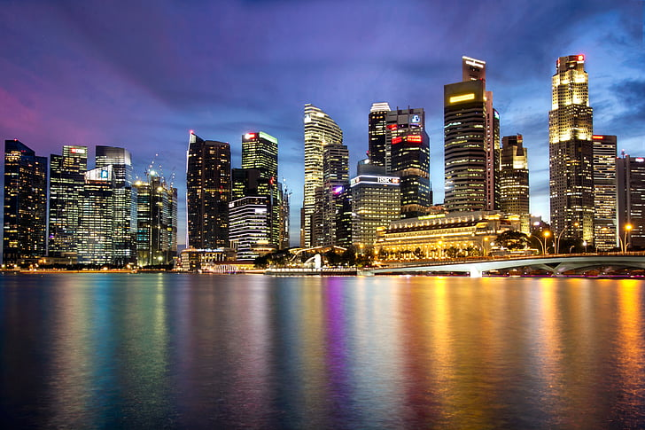 cityscape by night photograph