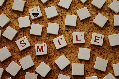 word scrabble smile digital wallpaper