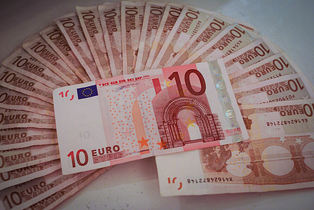 10 European euro banknote lot