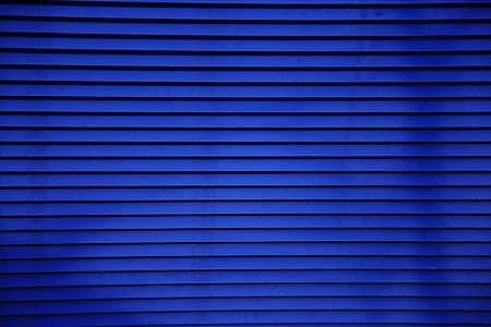 blue window blinds