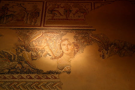 the lady mosaic, zipory, israel, asia, architecture, cultures