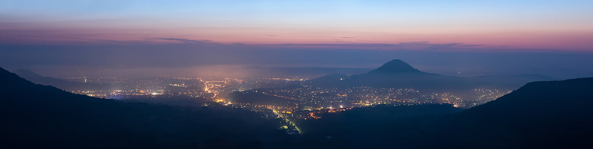 panoramic view of city lights