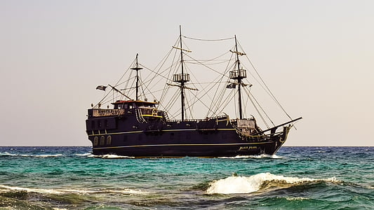 brown galleon ship
