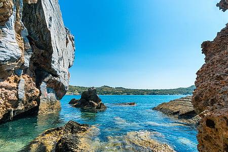 rocky beach at daytime