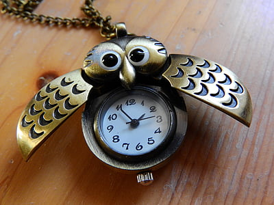 gold-colored beetle pocket watch reading at 1:55