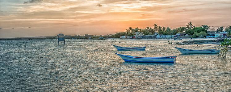 white rowboats on sea