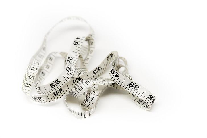 Royalty-Free photo: White measuring tape | PickPik