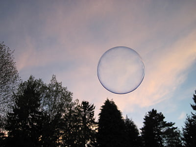 bubble flew in mid air