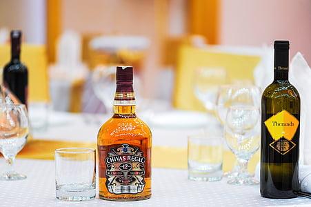 Chivas Regal 12 glass bottle