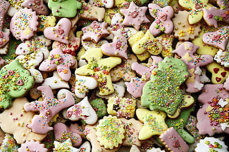 closeup photo of assorted-color cookies