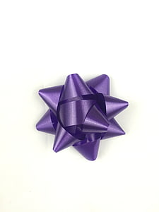 purple gift box ribbon
