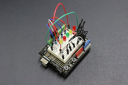 device motherboard with multi-colored wires