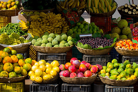 photo of assorted fruits on baskets