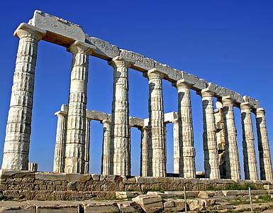 close view of ruins