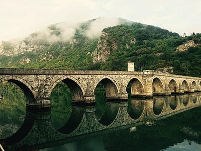 beige stone bridge