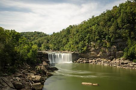 timelapse photo of waterfalls at daytime