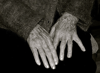 person showing his hands