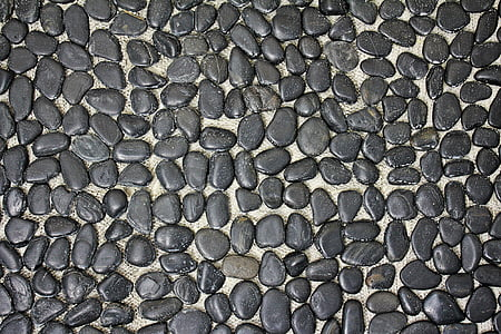 pile of black stones