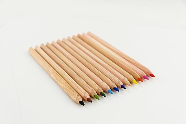 assorted-color pencil set