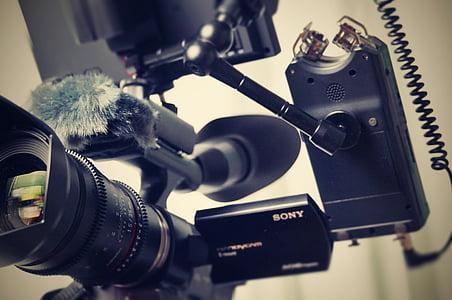closeup photo of black Sony camera