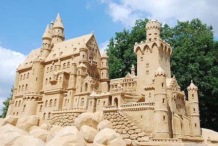 beige sand castle