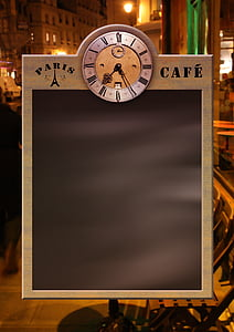 gray and black Paris Cafe menu board