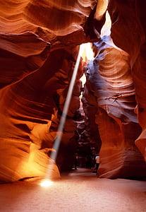 light passing through rock formation