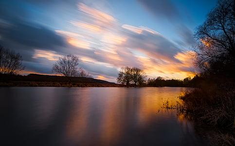 lake scenery during sunset