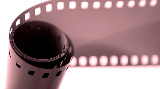 rolled black film