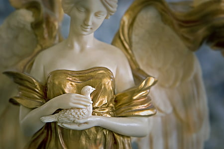 art nouveau, sculpture, figure, angel, statue, figures