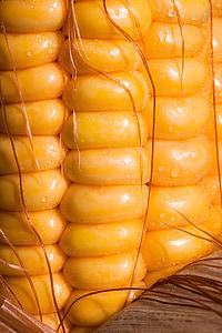 close-up photo of orange corn cob